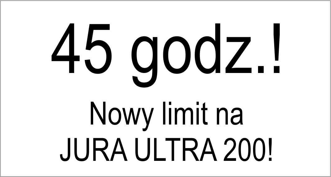 Dłuższy limit czasu na trasę JURA ULTRA 200!